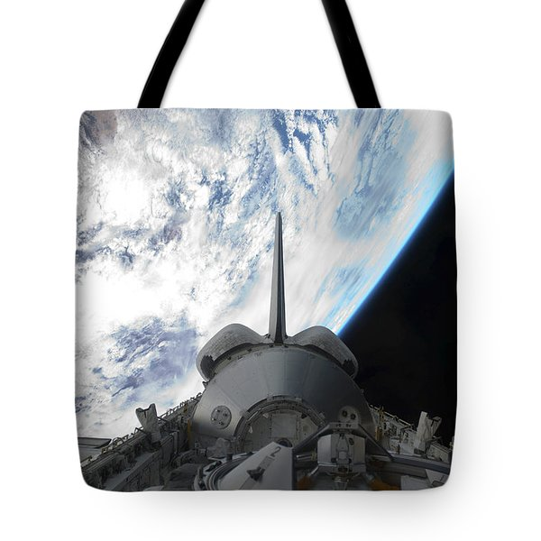 Space Shuttle Endeavours Payload Bay Tote Bag by Stocktrek Images