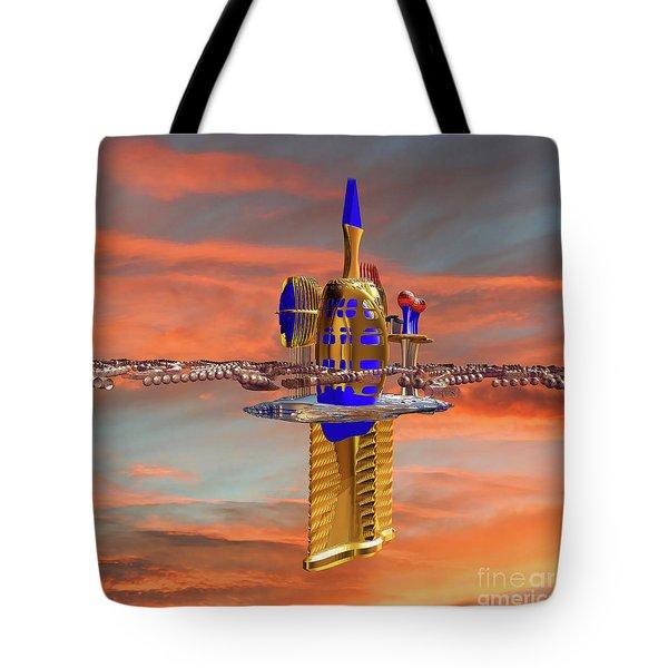 Space Station 3 Tote Bag by Deborah Benoit