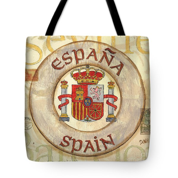 Spain Coat Of Arms Tote Bag by Debbie DeWitt