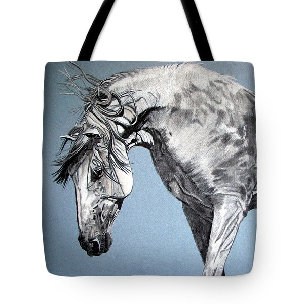 Spanish Horse Tote Bag by Melita Safran
