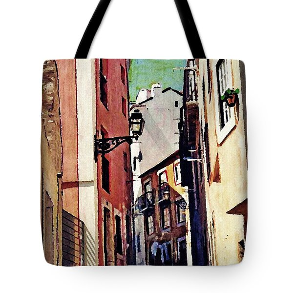 Spanish Town Tote Bag by Sarah Loft