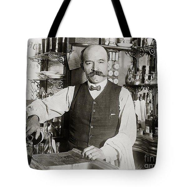 Speakeasy Bartender Tote Bag by Jon Neidert