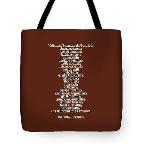 Specialization Tote Bag by Anastasiya Malakhova