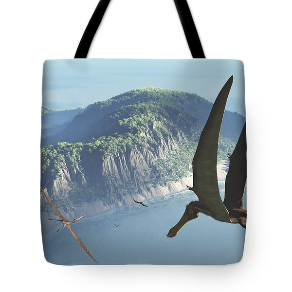 Species From The Genus Anhanguera Soar Tote Bag by Walter Myers