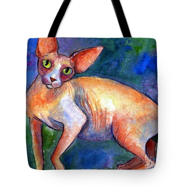 Sphynx Cat 4 Painting Tote Bag by Svetlana Novikova
