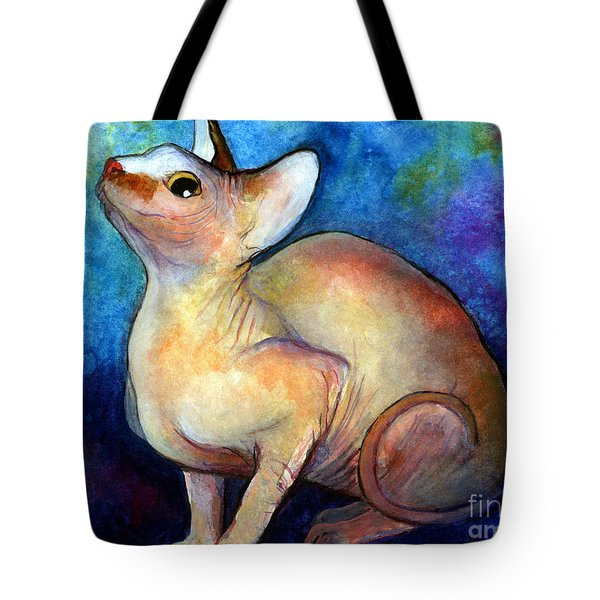 Sphynx Cat 5 Painting Tote Bag by Svetlana Novikova