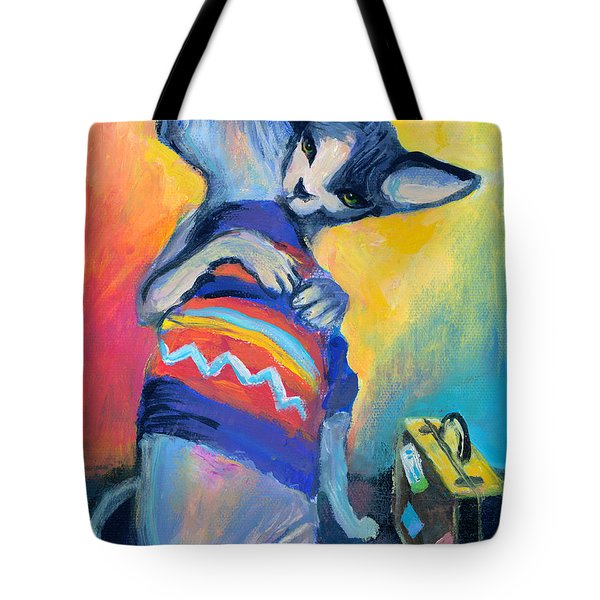 Sphynx Cats Friends Tote Bag by Svetlana Novikova