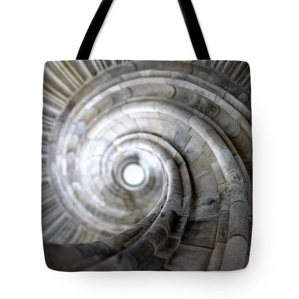 Spiral staircase Tote Bag by Falko Follert