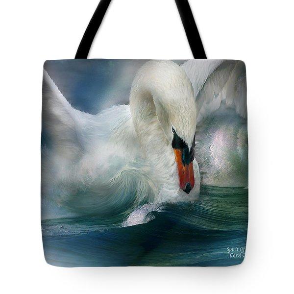 Spirit Of The Swan Tote Bag by Carol Cavalaris