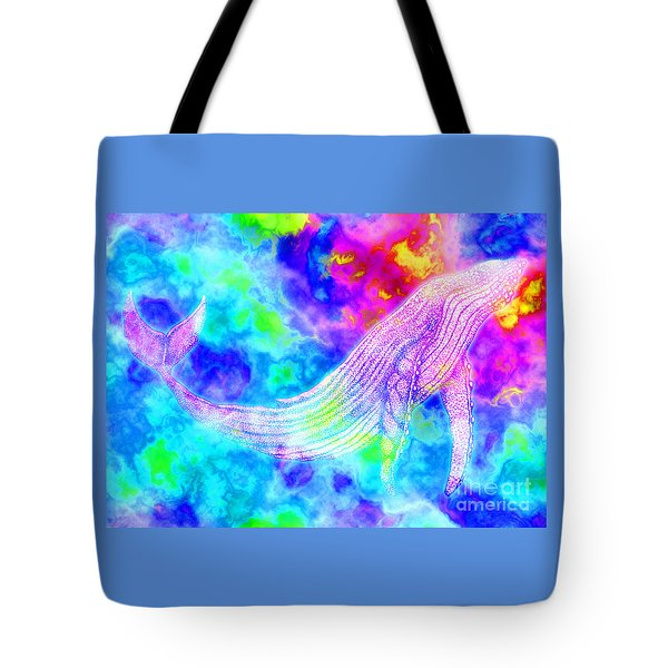 Spirit Whale 3 Tote Bag by Nick Gustafson