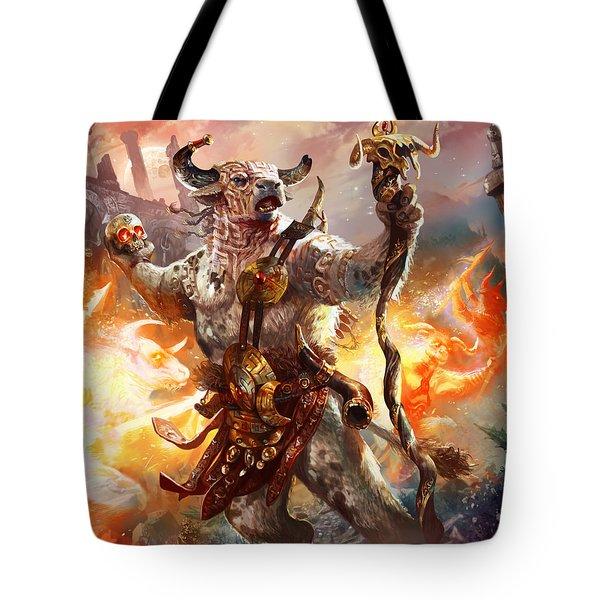 Spiritcaller Shaman Tote Bag by Ryan Barger