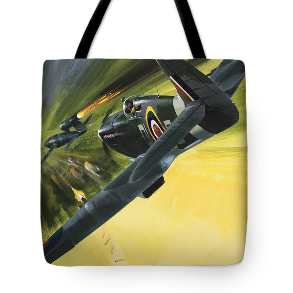 Spitfire And Doodle Bug Tote Bag by Wilf Hardy