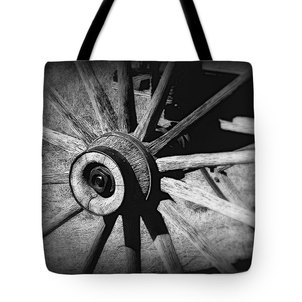 Spoked wheel Tote Bag by Perry Webster