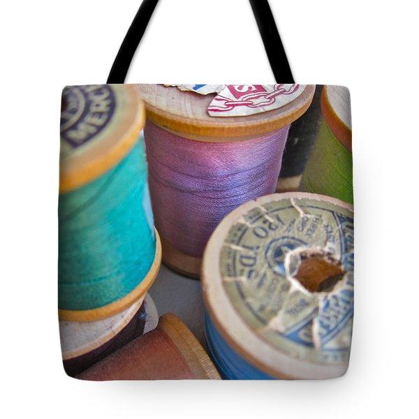Spools Of Thread Tote Bag by Gwyn Newcombe
