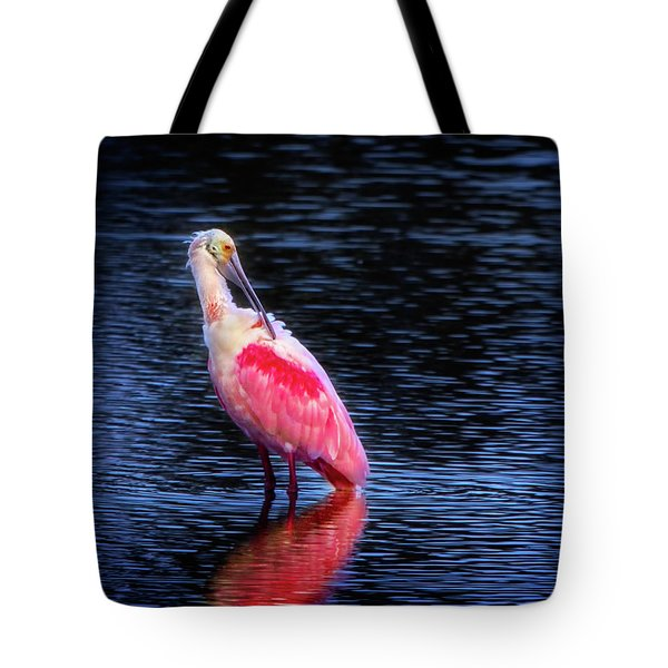 Spoonbill Sunset Tote Bag by Mark Andrew Thomas
