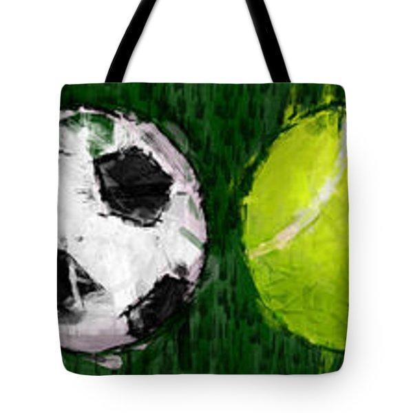 Sports Balls Abstract Tote Bag by David G Paul
