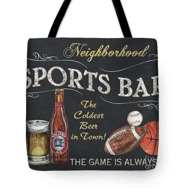 Sports Bar Tote Bag by Debbie DeWitt