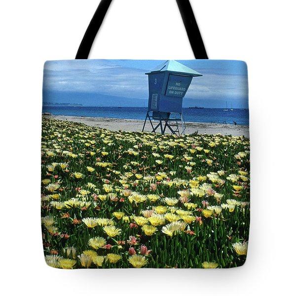 Spring Break Santa Barbara Tote Bag by Kathy Yates