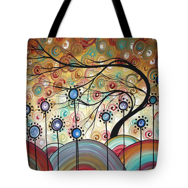 Spring Flowers Original Painting Madart Tote Bag by Megan Duncanson