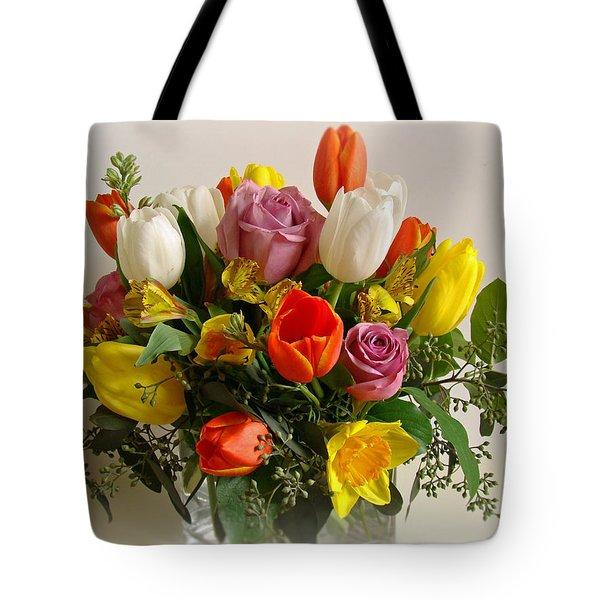 Spring Flowers Tote Bag by Sandy Keeton