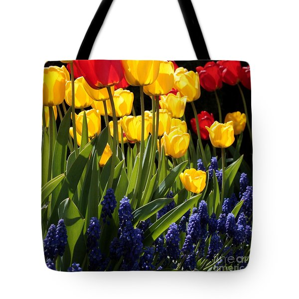 Spring Flowers Square Tote Bag by Carol Groenen