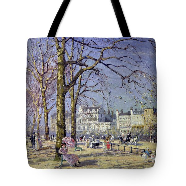 Spring In Hyde Park Tote Bag by Alice Taite Fanner