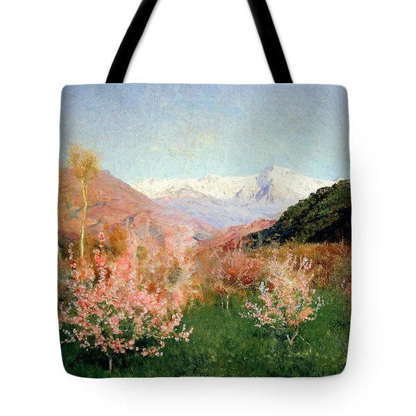 Spring In Italy Tote Bag by Isaak Ilyich Levitan