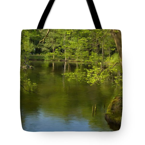 Spring On The Lake Tote Bag by Angela Doelling AD DESIGN Photo and PhotoArt