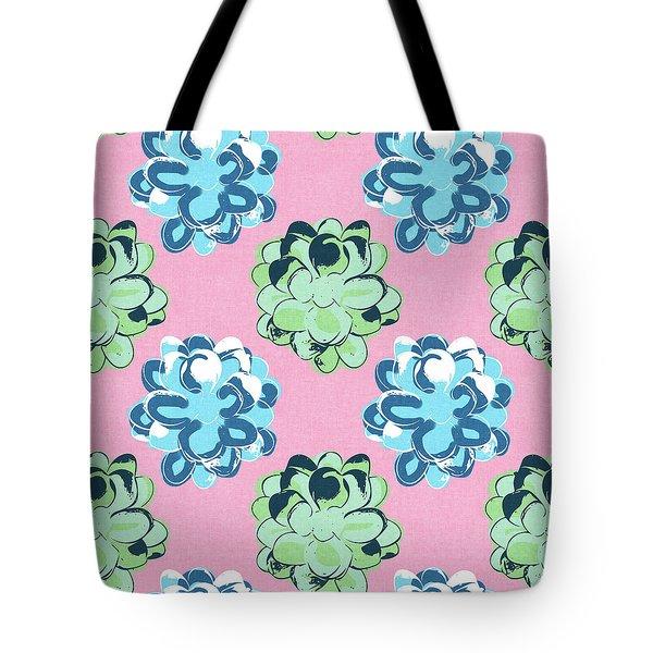 Spring Succulents- Art By Linda Woods Tote Bag by Linda Woods