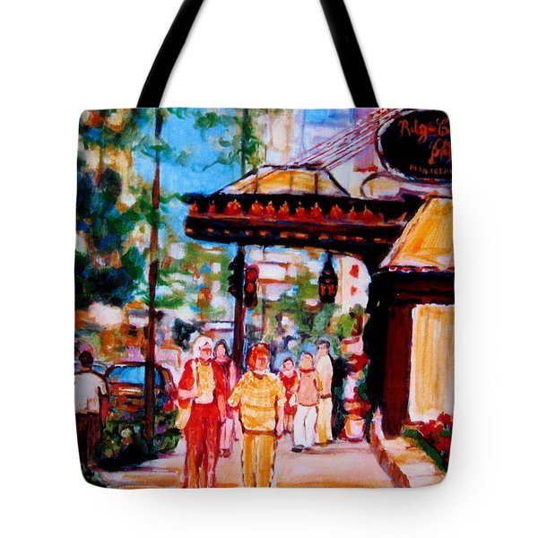 Springtime At The Ritz Tote Bag by Carole Spandau