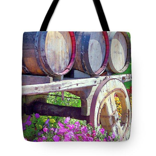 Springtime at V Sattui Winery St Helena California Tote Bag by Michelle Wiarda