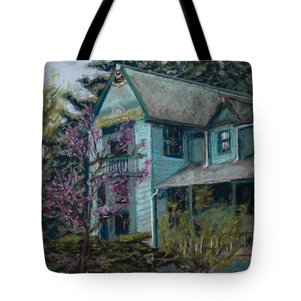 Springtime in Old Town Tote Bag by Mary Benke