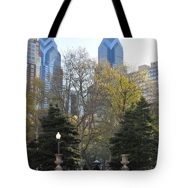 Sprintime At Rittenhouse Square Tote Bag by Bill Cannon