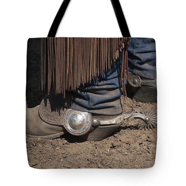 Spurs N' Rowels Tote Bag by Sandra Bronstein