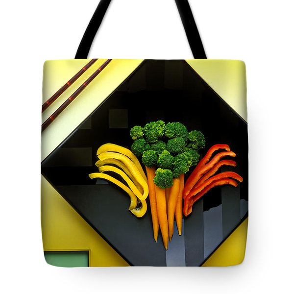 Square Plate Tote Bag by Garry Gay
