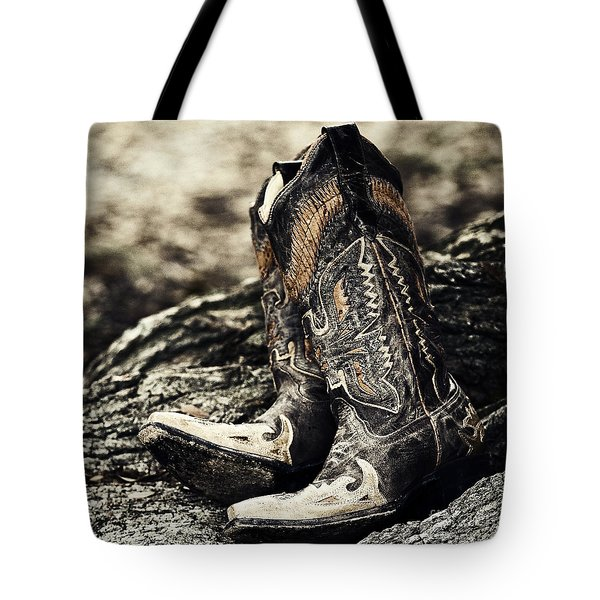 Square Toes Tote Bag by Scott Pellegrin