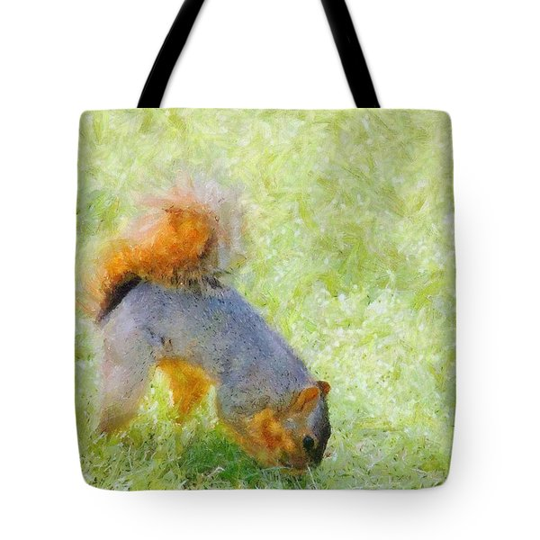 Squirrelly Tote Bag by Jeff Kolker