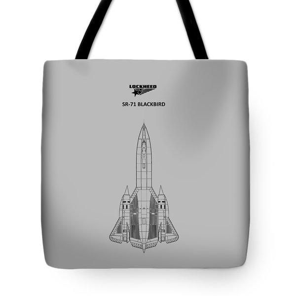 Sr-71 Blackbird Tote Bag by Mark Rogan