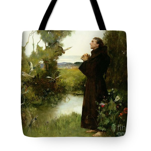 St. Francis Tote Bag by Albert Chevallier Tayler