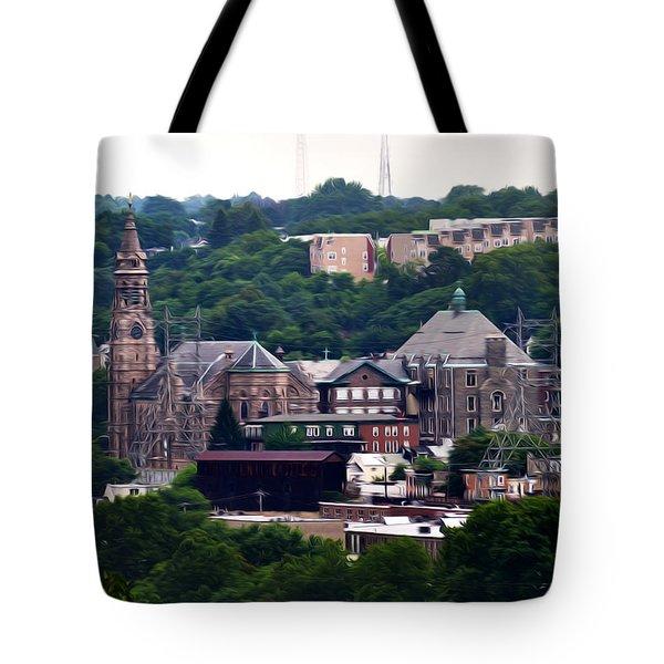 St John The Baptist Church Manayunk Philadelphia Tote Bag by Bill Cannon
