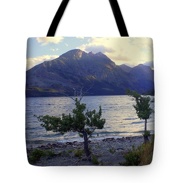 St. Mary Lake Tote Bag by Marty Koch