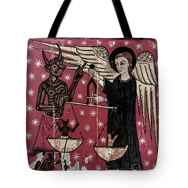 St. Michael Weighing Souls Tote Bag by Granger
