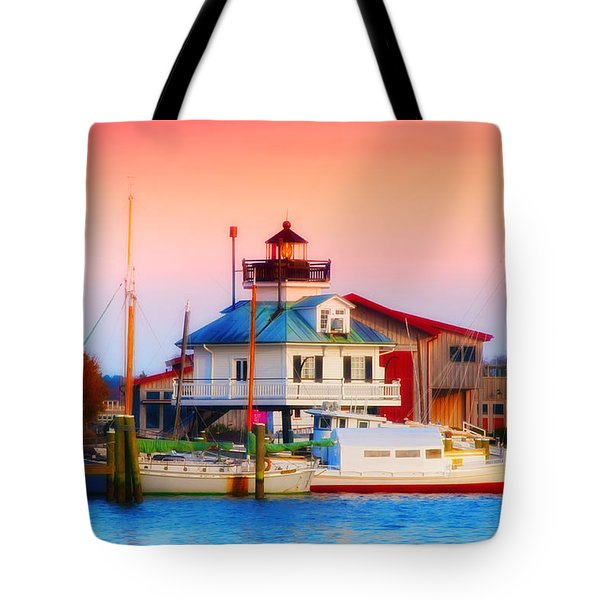 St. Michael's Lighthouse Tote Bag by Bill Cannon
