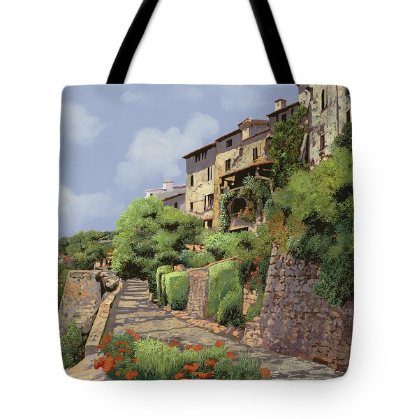 St Paul de Vence Tote Bag by Guido Borelli