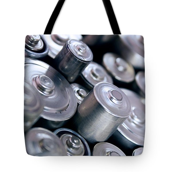 stack of batteries Tote Bag by Carlos Caetano
