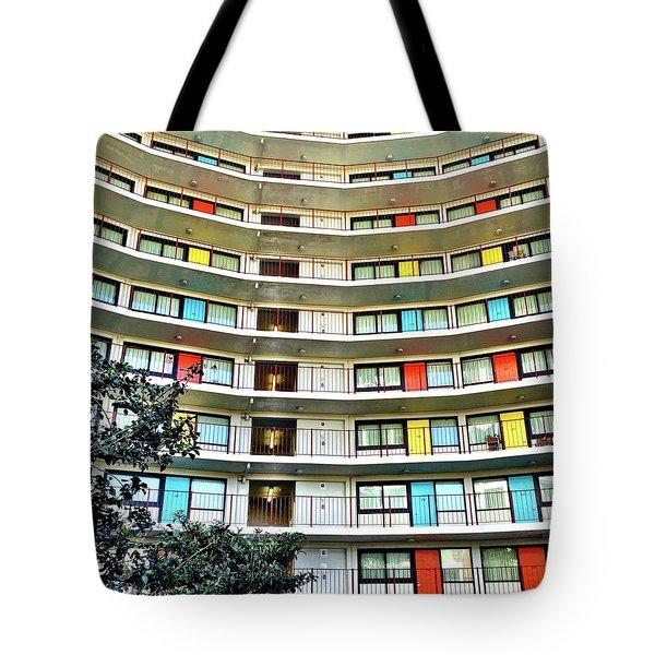 Stacked Doors Tote Bag by Julie Gebhardt