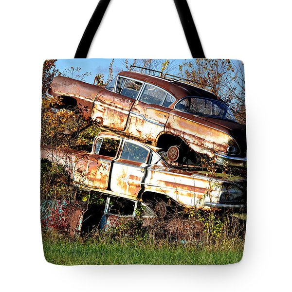 Stacking Them Up Tote Bag by Jan Amiss Photography