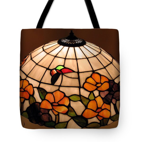 Stained-glass Lampshade Tote Bag by Suhas Tavkar