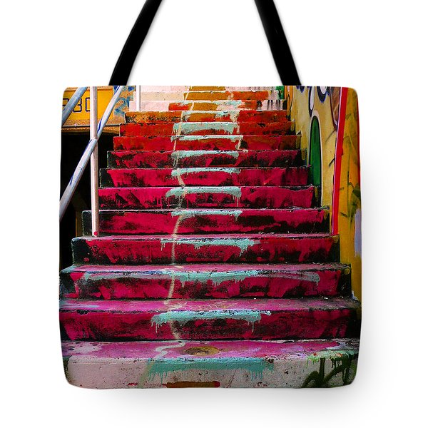 Stairs Tote Bag by Angela Wright