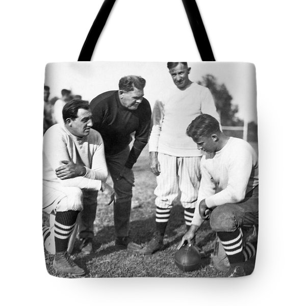 Stanford Coach Pop Warner Tote Bag by Underwood Archives